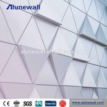 Nano-pvdf acp aluminium coloré panneau composite prix