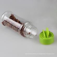 Plastic Spice garrafa com tampa verde Flip (PPC-PSB-01)