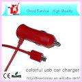 Nuevo diseño Colorido cable de datos USB cargador de coche para celular