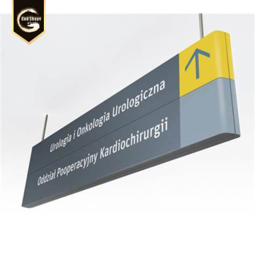 Terminal del aeropuerto Uso LED Way Finding Project Signs