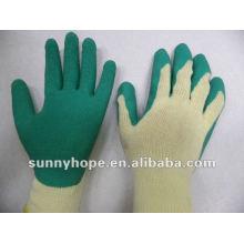 Grüner Latex beschichteter Handschuh für Bauarbeiter