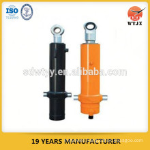 telescopic hydraulic cylinders for side-dumping truck