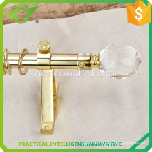 JNS golden pole and crystal end curtain rods