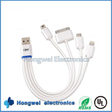 Multifunctional 4 in 1 Mini Micro Charging and Data USB Cable
