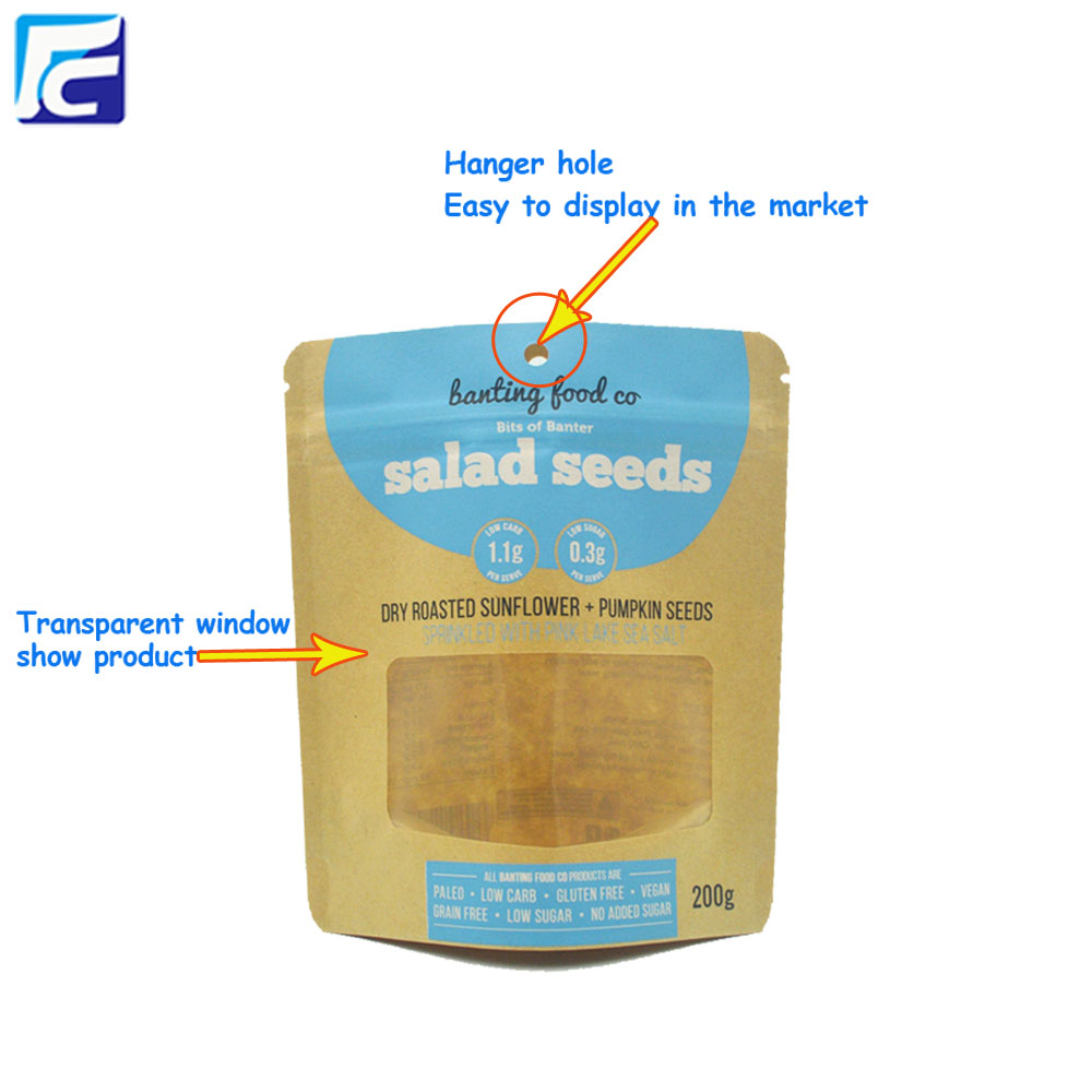 Kraft Paper Food Packaging Bags