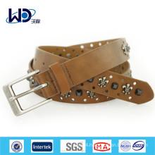New design mens brown studded belts