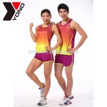 YONO école et club de formation courir des vêtements de sport logo personnalisé Sportswear unisexe Sublimation ensembles de course