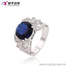 Moda de luxo CZ Crysral Rhodium anel de jóias com borboleta -Plated 13643