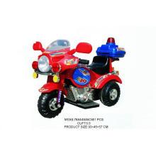 Дети ездят на мотоцикле, работающем от аккумулятора (H0102127)