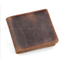 Custom Compact Leather Billfold Purse Wallet for Promotional Gift