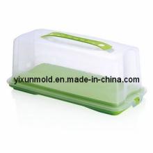 Molde de caixa de embalagem de bolo de plástico