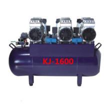 Un compresor de aire silencioso sin aceite de cuatro sillones dentales