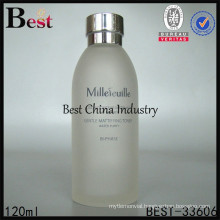 cylindrical cosmetic glass serum bottle, silk printing service, OEM, we do best for you