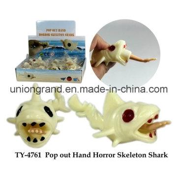 Pop out Hand Horror Skeleton Shark