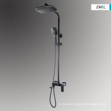Bath rain black shower mixer heads black set