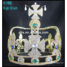 Krone geformte König volle Krone neue Stil Tiara hohe volle Krone Tiara