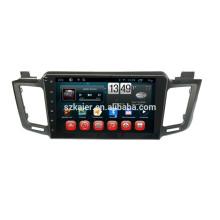 FÁBRICA! Reproductor de DVD del coche con espejo enlace / DVR / TPMS / OBD2 para pantalla táctil completa de 10.1 pulgadas 4.4 sistema Android Toyota RAV4 2014