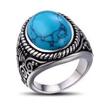 Joyería fina del anillo de la piedra preciosa de la plata fina de la venta