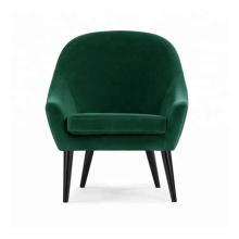 Dining Furniture Used Wooden Frame Armchair Green Velvet Restaurant Chair