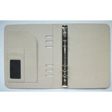 Carpeta simple de la PU, carpeta (LD015) Organizador, caja del cuaderno