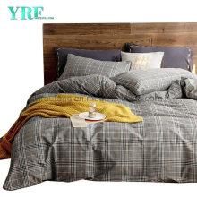 Hospital Cotton Bed Sheet Fashion Style Cheap Price Grey Plaid