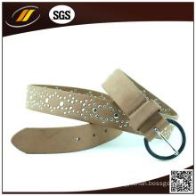 Hot Sale Brown Shiny Woman Belts Rhinestone Leather Belts