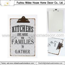 Prancheta de metal para sala de cozinha