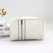 Hot Sale Logo Custom Cosmetic Bag Makeup For Women Girls Travel Bag Metallic Gold Zipper Closure Makeup Pouch Bag