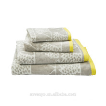 Высокое качество светло-серый полотенце Жаккардовые комплекты ВТСП-026 оптом
