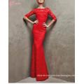 2017 neue rote Spitze-heißes Abend-Abendessen-Kleid-reizvolle Abschlussball-Schlauch-Kleider