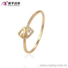 Xuping оптом 51335 два треугольника формы простые конструкции золотой браслет с камнем для женщин