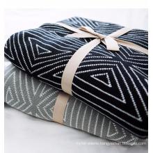 PK17ST378 home textile jacquard black white patterns cotton cashmere blankets
