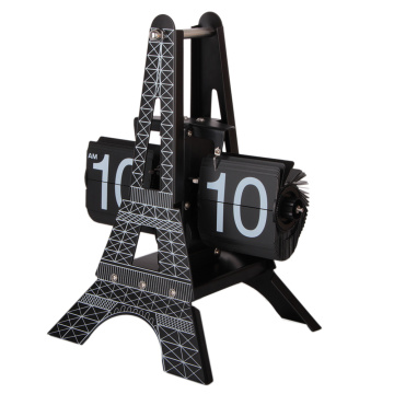 Tour de table Eiffel Clock for Decor