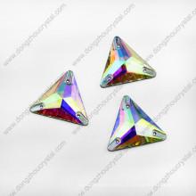 Chine usine prix plat dos Ab couleur Triangle coudre sur les perles pour les vêtements