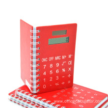 8 Digits Spiral Notebook with Calculator