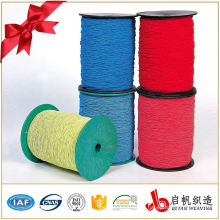Colorful braided elastic band webbing for sports bra