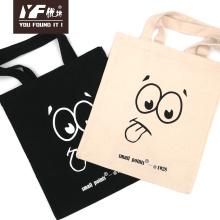 Cute cartoon face pattern canvas shopping hand bags
