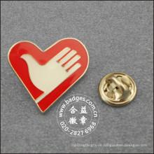 Herzform freiwillige Abzeichen, benutzerdefinierte Anstecknadel (GZHY-LP-092)