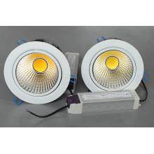Natrural Blanco COB LED Dimmable Luz abajo LED Luz de techo Panel LED