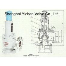 Válvula de seguridad tipo equilibrio de fuelle (WA42)