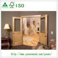 Porte en bois émaillée en bois de placage d'érable de panneau