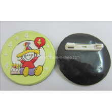Soft PVC Pins 3D Logo with Safety Pins