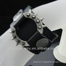 Bracelet personnalisé en cuir pour hommes Fabriqué en Chine Alibaba BGL-006