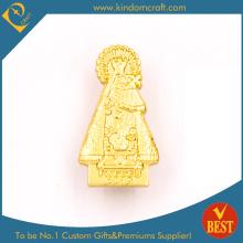 Gewohntes goldenes überzogenes Metallabzeichen