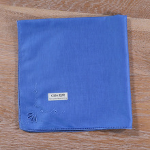 Blue Cotton Handkerchief embroidery patterns Drawnwork