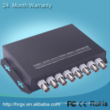 Монитор видео мультиплексор 8-канальный оптический для коаксиального конвертер с RS485