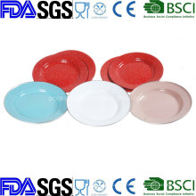 Camping Enamel Plate Dinnerware Porcelain Enamel Tableware Enamelware
