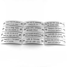 Alliage de zinc Placé croisé avec bracelet en cuir Bracelet bijoux