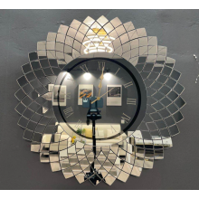 Modern mirror wall clock for billiard room