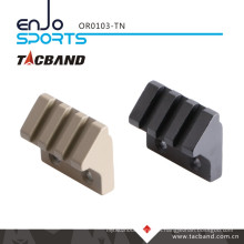 Tacband Keymod 45 Degree Offset Picatinny Rail Flashlight/Accessory Mount (3 slot/1.5 inch) Tan